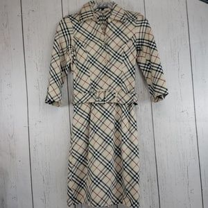 Burberry London Nova Check Dress Beige Belted S